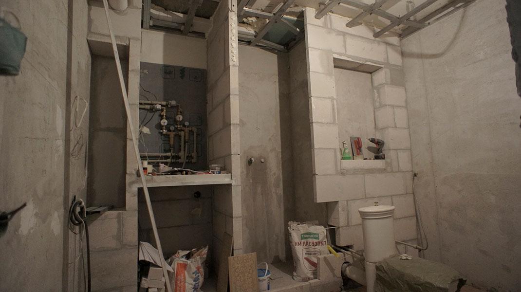 Отделка ванной комнаты в ЖК Петровская Ривьера